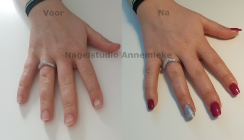 Crystal nails gel verlenging met Pink Gellac