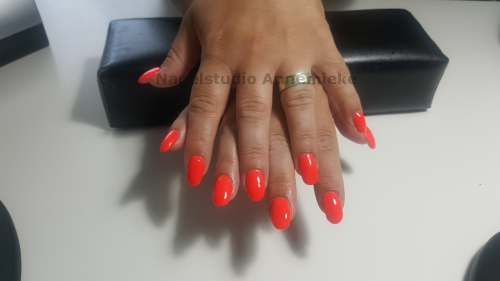 Opvulling - Crystal Nails gel plus Pink Gellac